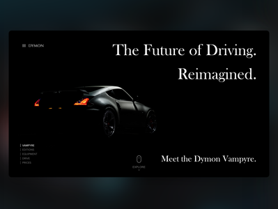 Car company Exploration Page UI Concept homepage website landing page uiux webdesign web ui design uidesign ui design concept