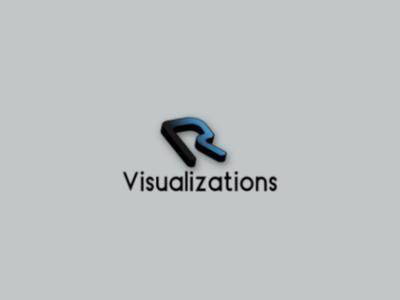"""R"" Visualization Logo Challenge - Day 8"