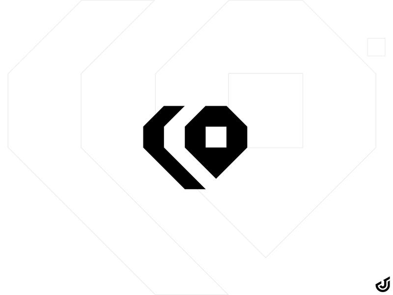 CO + Heart Logo design co logo heart logo co heart logo mark branding vector logo design logo illustrator