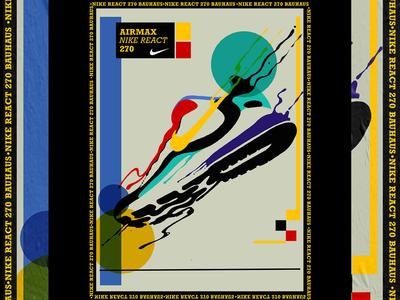 Nike Air Max React 270 Bauhaus