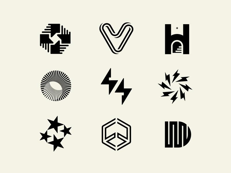 2020 Q2 logos icons identitydesign logos logo branding graphic design corporate identity eco sustainability geometry circle stars brand love jewellery electric car bolt