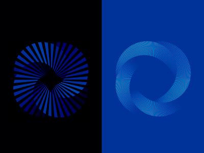 mobius twisting branding depth modern curves lines geometry geometric symbol logodesign logo mobius