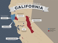 Wine Trails California Map