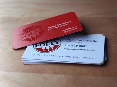 Business card heroshot