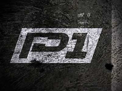 P1 on Asphalt monogram grunge texture road nephew p1 branding logo