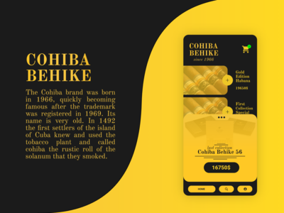 Cohiba Behike / app and brand design