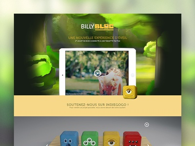 Billybloc - Landing page