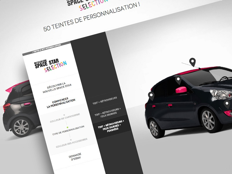 Mitsubishi Space Star Selection mitsubishi space star car colors selection customization