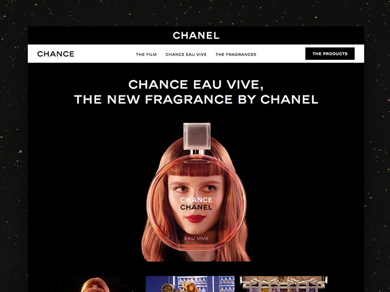 Chanel Chance product perfume story desktop website chance chanel