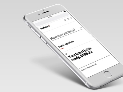 My Verizon Online - redesign