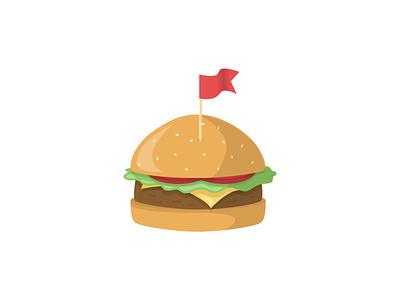 Burger sketchapp sketch colourful yummy red flag branding concept restaurant food vector illustration illustration digital illustration illustrator vectorartist artist art digitalart vectorart vector burger