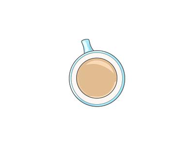 Cup of tea birdseye graphicdesign digital art digital illustration illustration illustrator vector art vector illustration vector blue mug cup tea