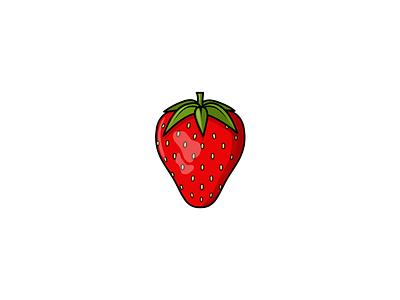 Strawberry artist art digital digital illustration digitalart fruit food graphic graphicdesign vectorillustration vectorart vector design art designer design illustrator illustrations illustrate strawberry yum