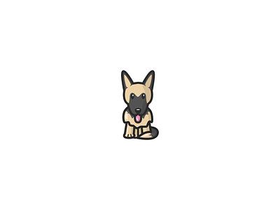 Cartoon German Shepherd illustration art german shepherd doggy cute artist artwork graphicdesign digital illustration digitalart cartoon illustration illustration design illustrator vector illustration vectorart vector cartoon dog illustration dog gsd
