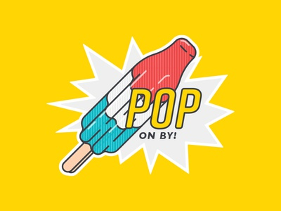Pop on by! fourth of july comic book pop boom pop patriotic popsicle