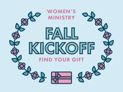 Women's Ministry Fall Kickoff church leaves wreath bow present gift flowers women