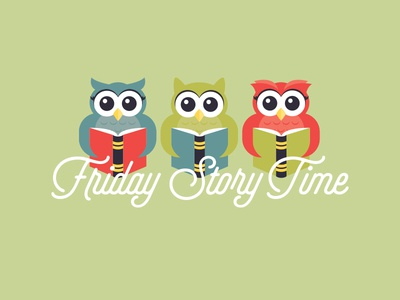 Friday Story Time cute read book story owl