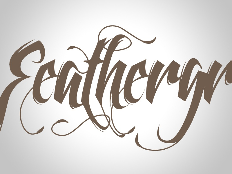 Feathergraphy - font family typography calligraphy font decorative swashes decorative typeface ornamental swash font