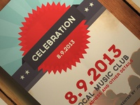 Celebration Flyer For Dribbble