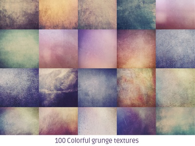 100 Colorful grunge texture pack