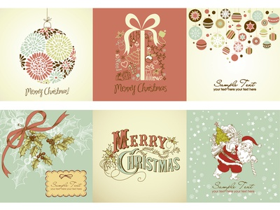 32 Christmas vectors collection in various styles