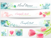 12 Spring and floral banners
