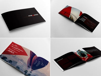 Business Brochure template Piramid