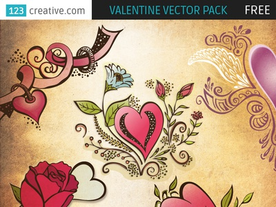 FREE Valentine vector pack