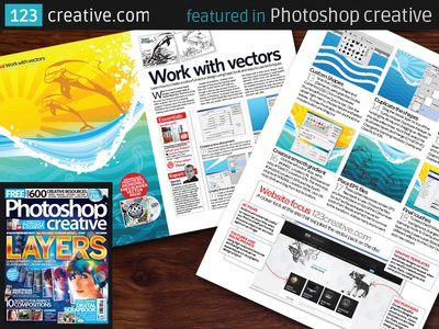 123creative.com was featured in Photoshop Creative issue 110