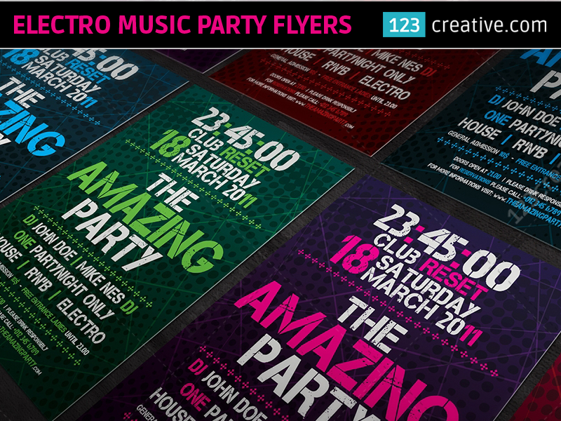 ELECTRO MUSIC PARTY FLYER TEMPLATES electro party flyer psd electro night flyer template electro house flyer psd minimal party poster dubstep electro party flyer club party poster psd modern electro party flyer electro music flyer templates concert flyer templates event party flyer psd electronic music flyer template electro music party flyers