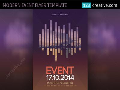 Modern Event Flyer Template PSD