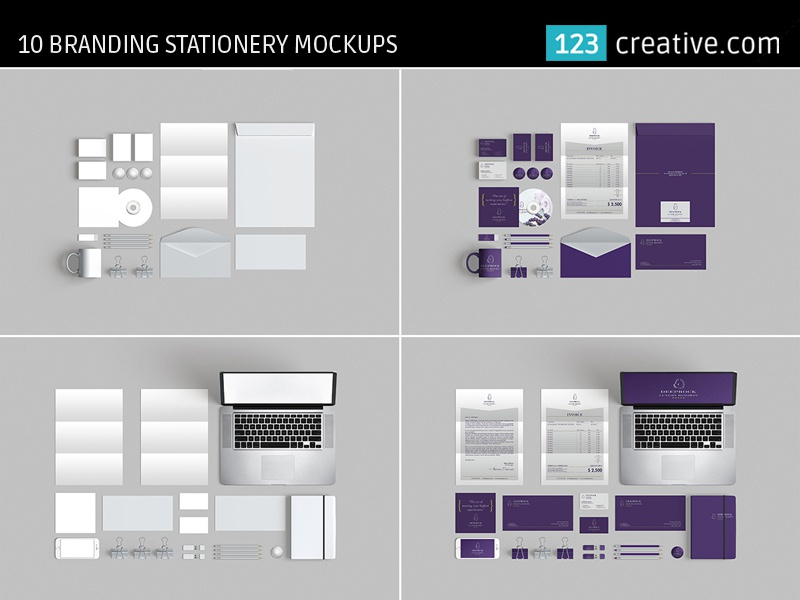 branding stationery mockups 10 mockup templates psd by 123creative
