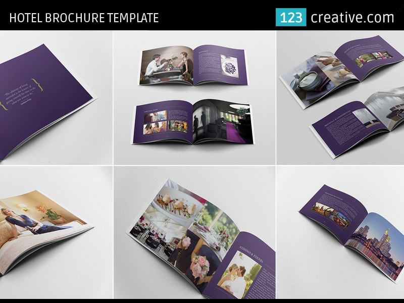 Hotel Brochure Template InDesign Photoshop by 123creative – Hotel Brochure Template