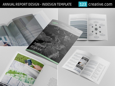 Annual Report Design InDesign Template by 123creative Dribbble