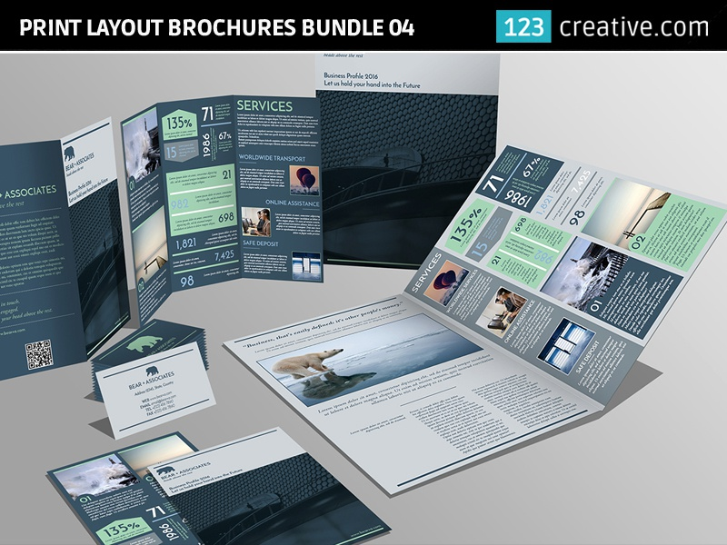 Print layout brochures bundle flyer and business card by print layount brochures bundle04 print layout brochures bundle bifold cheaphphosting Image collections