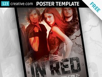 FREE Dirty Red Event poster design template