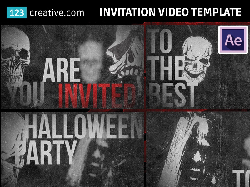 After Effects Halloween Party Invitation Video Template By