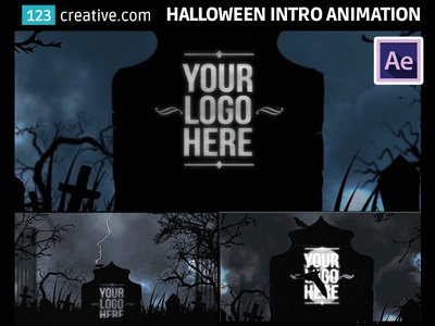 after effects template horror halloween intro animation by
