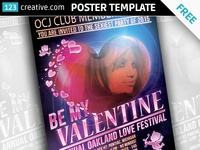 Free Valentine's day party poster template