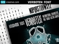 Condensed headline font - Verboten font + Bonus vector shapes