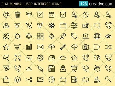 Flat Minimal User Interface icons (EPS, PNG, SVG) office icon pack office icon set e shop icons e commerce icon set office icons e commerce flat icons ecommerce icons flat ui kit user interface icon set flat user interface icons minimal user interface icons