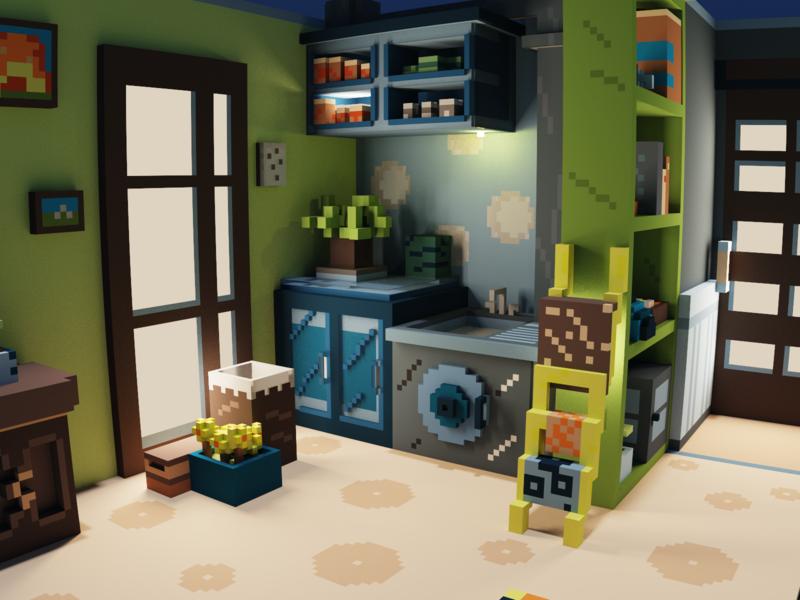 Voxel apartment_Concept room