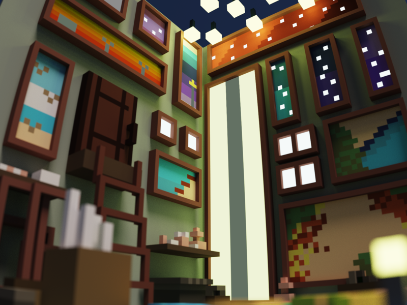 Voxel Artist_Concept Room