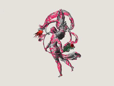 The Last Rose colors illustrator minimal art dribbble artcollage design photoshop illustration collage