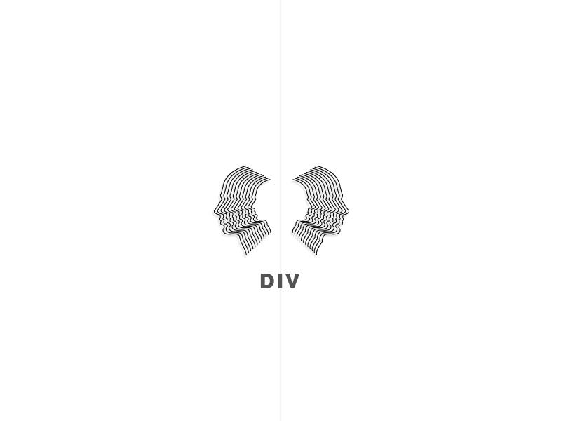 Div face abstract perspective logo web brand blend blending black
