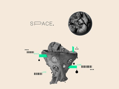 Space & Time   collage serie 007