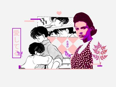 ranma 1/2  | collage serie 010