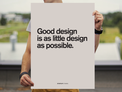 Good design is as little design as possible