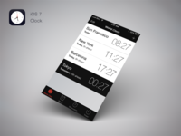 iOS7 Clock Redesign