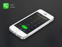 iOS7 Phone Keypad